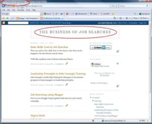 Blogger blog showing blog title and the piece that we will optimize in the browser title bar.