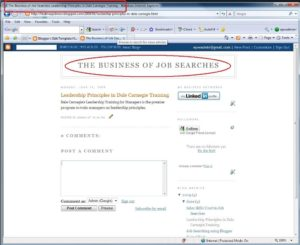 How Blogger creates the title of the post for the title tags and displays it in the browser title bar.