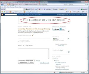 New look of your blog after the changes have been saved out. Optimized title is now visible to the search engines.