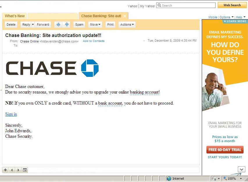 Did You Get Phished By Chase?