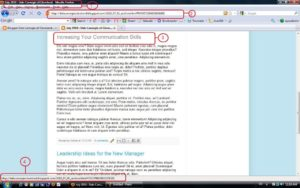 Screenshot Dale Carnegie blog after clicking the second post title.