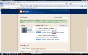 Screenshot The Blogger dashboard.