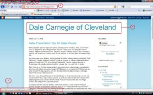 Screenshot The title page of our Dale Carnegie Sample blog with posts having separate pages.