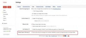 Screenshot Google Voice Contact configuration