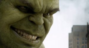 Hulk Smiles after compliment in the Avengers